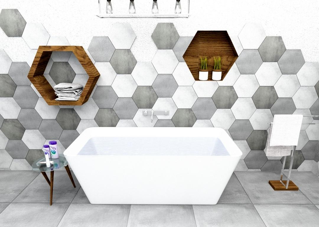 łazienka Heksagony Mix 30x30 Inspiracje Kaflando