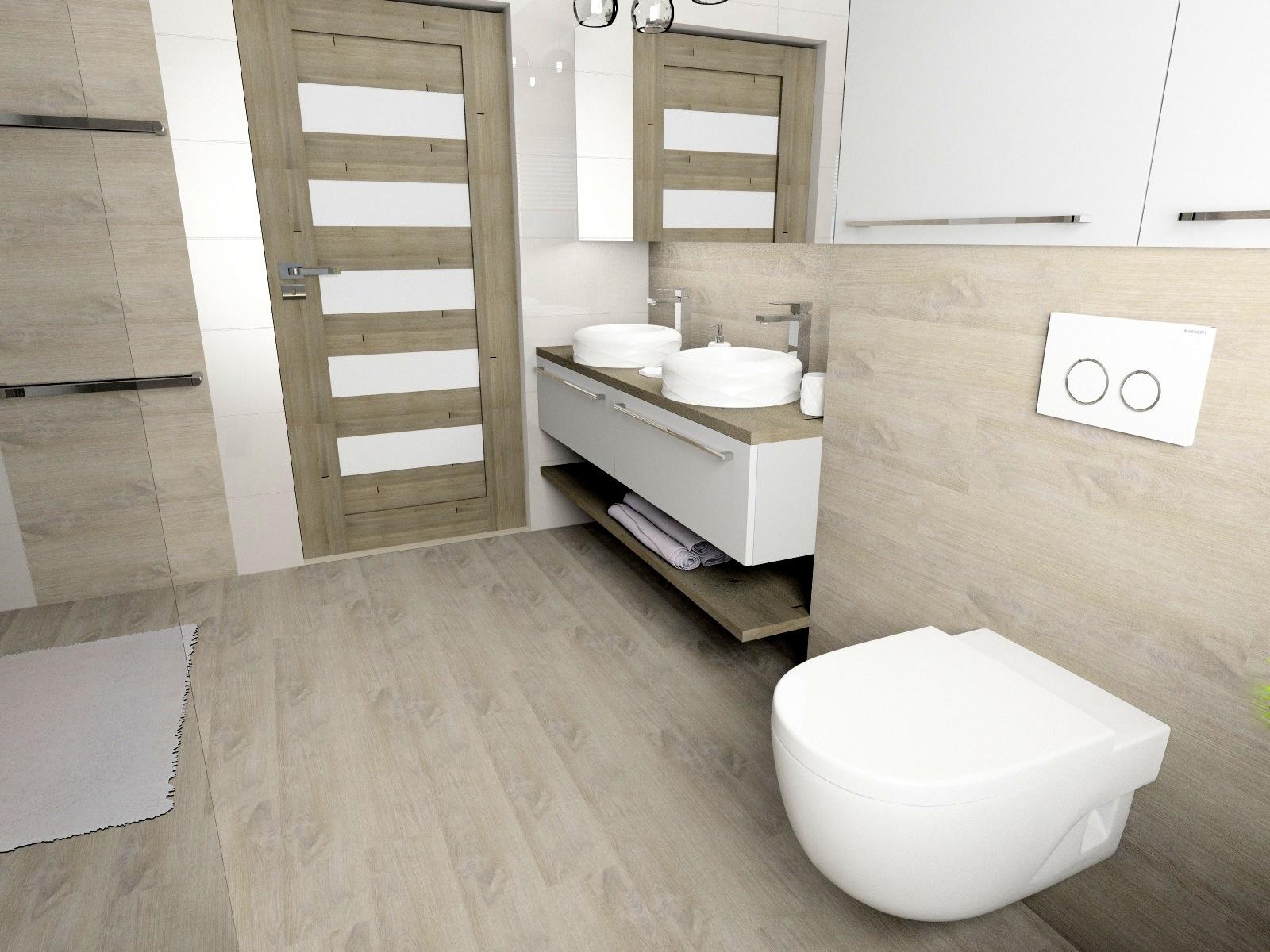 Jasna Naturalna łazienka Inspiracje Kaflando