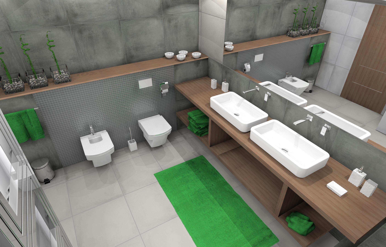 łazienka Ala Beton Zieleń Inspiracje Kaflando