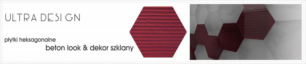płytki heksagonalne dekor KARMAZYN