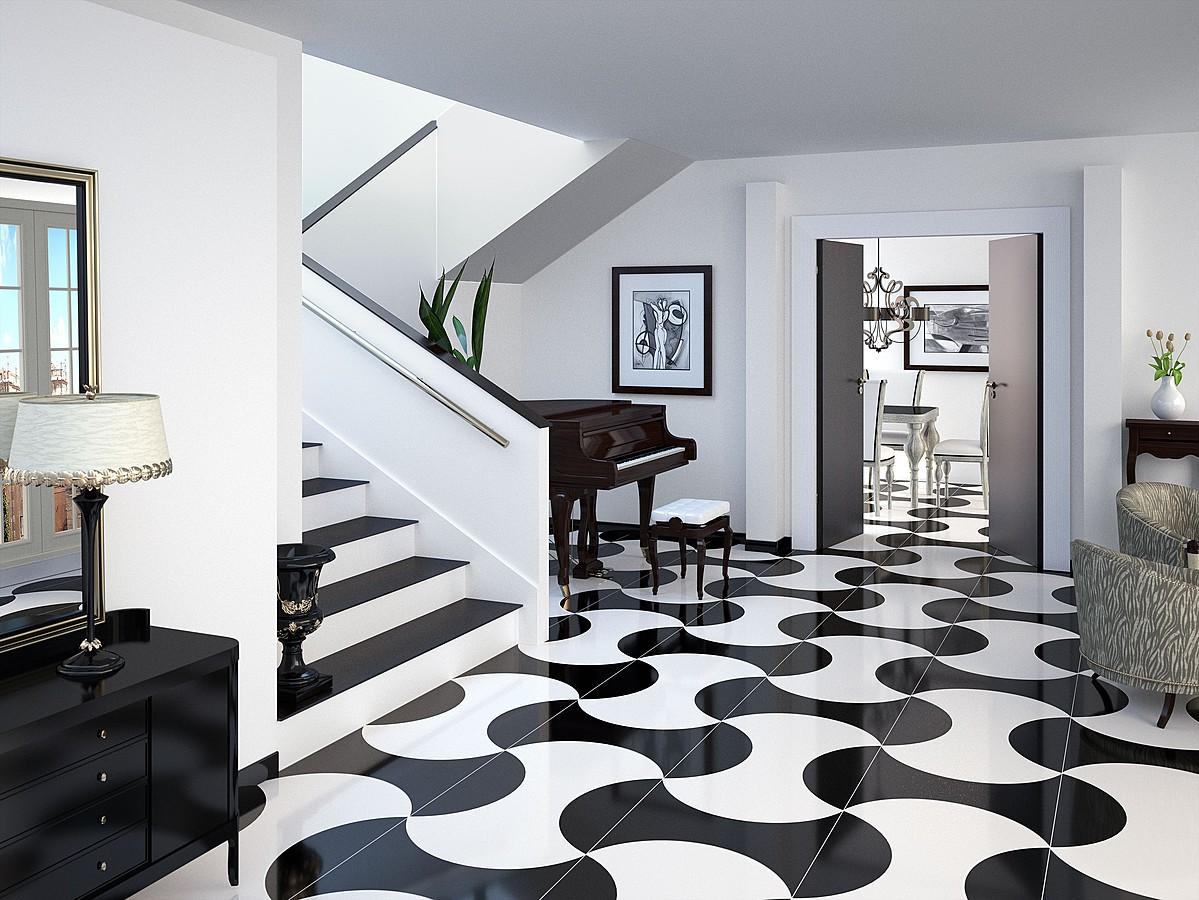 Korytarz Biało Czarny Luxury Inspiracje Kaflando