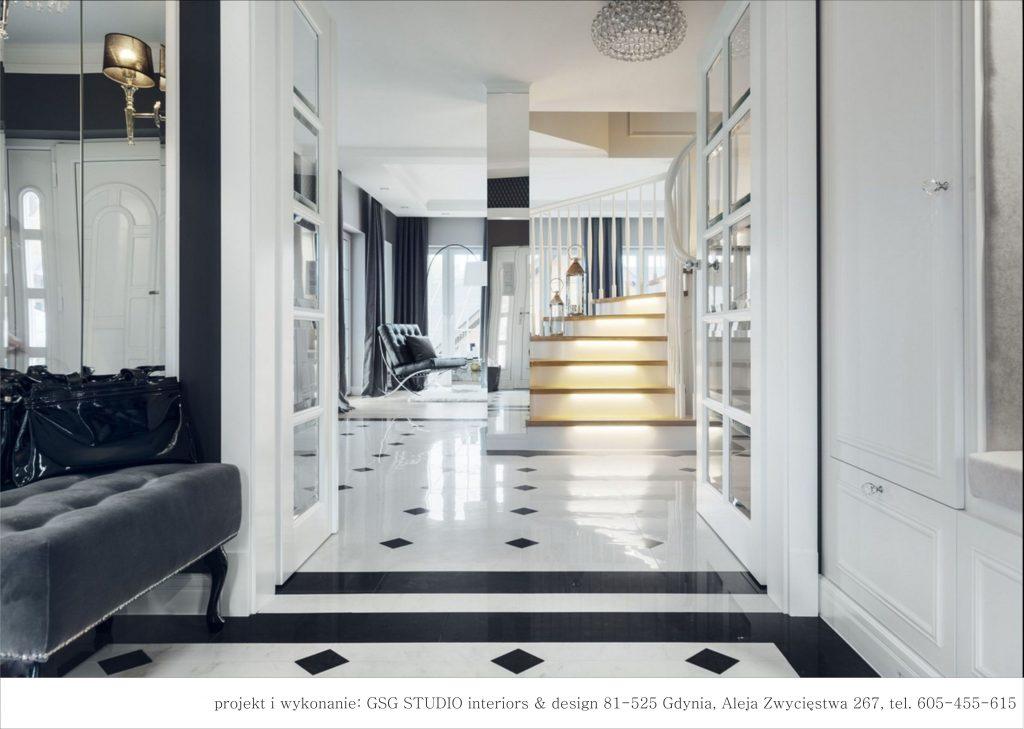 Przedpokój I Salon Art Deco Inspiracje Kaflando