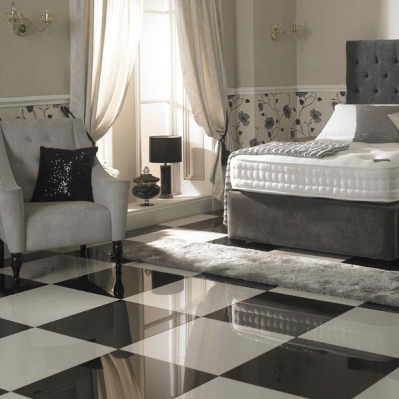 Super black-white aranżacja 60x60