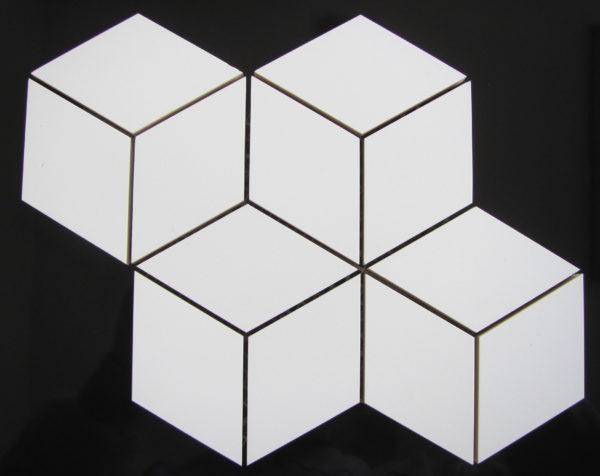 mozaika HEXA ROMBUS white mat 1