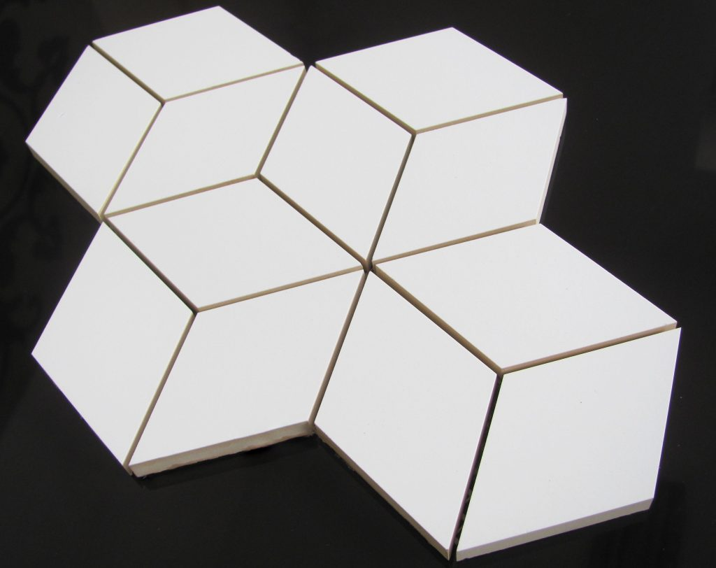 mozaika HEXA ROMBUS white mat 3