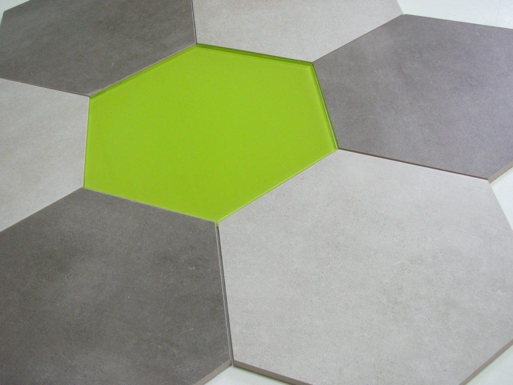 dekor szklany HEXON LIMONKA 30x30 & BETONIC 3