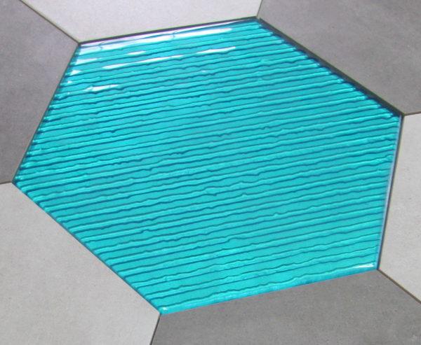 dekor szklany HEXON TURKUS 30×30 & BETONIC 4