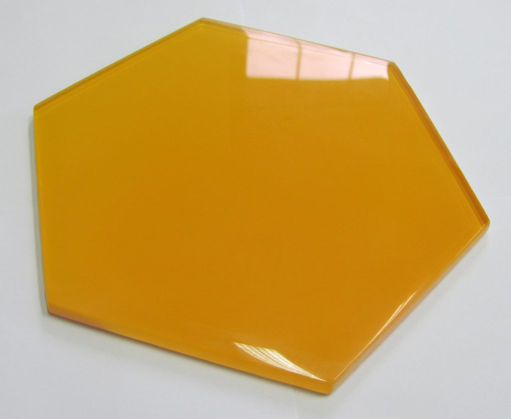 dekor szklany HEXON YELLOW 30x30