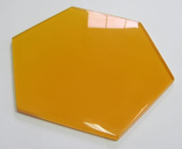 dekor szklany HEXON YELLOW 30×30