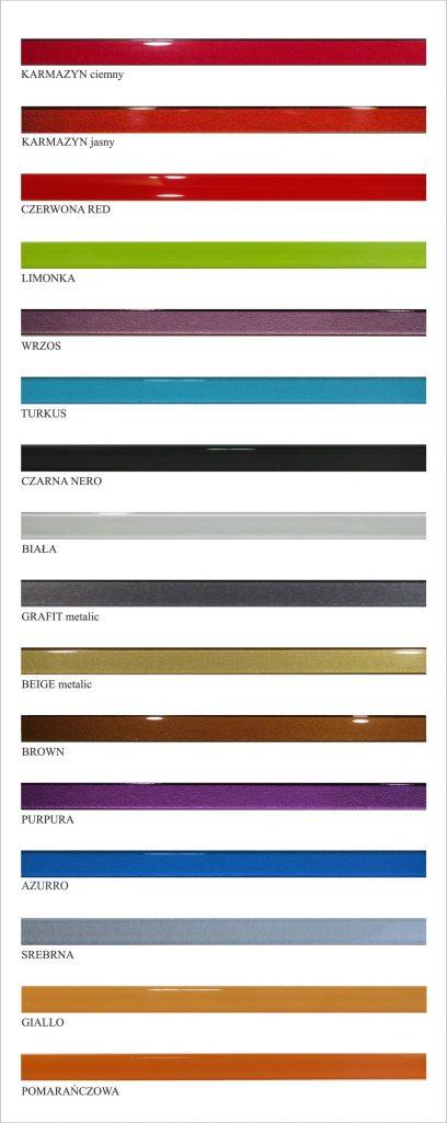 listwy pasek kolorów