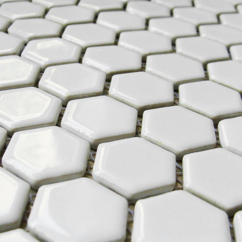mozaika heksagonalna 2,3x2,3 white 3