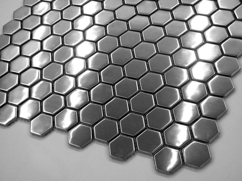 mozaika heksagonalna metalowa