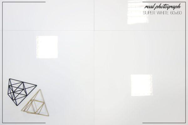 SUPER WHITE poler piramidki NAPIS + RAMKA