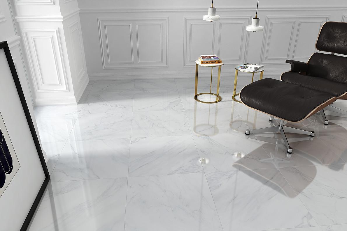 Gres Carrara Calacatta Naos 60x60 Połysk Rektyfikowana