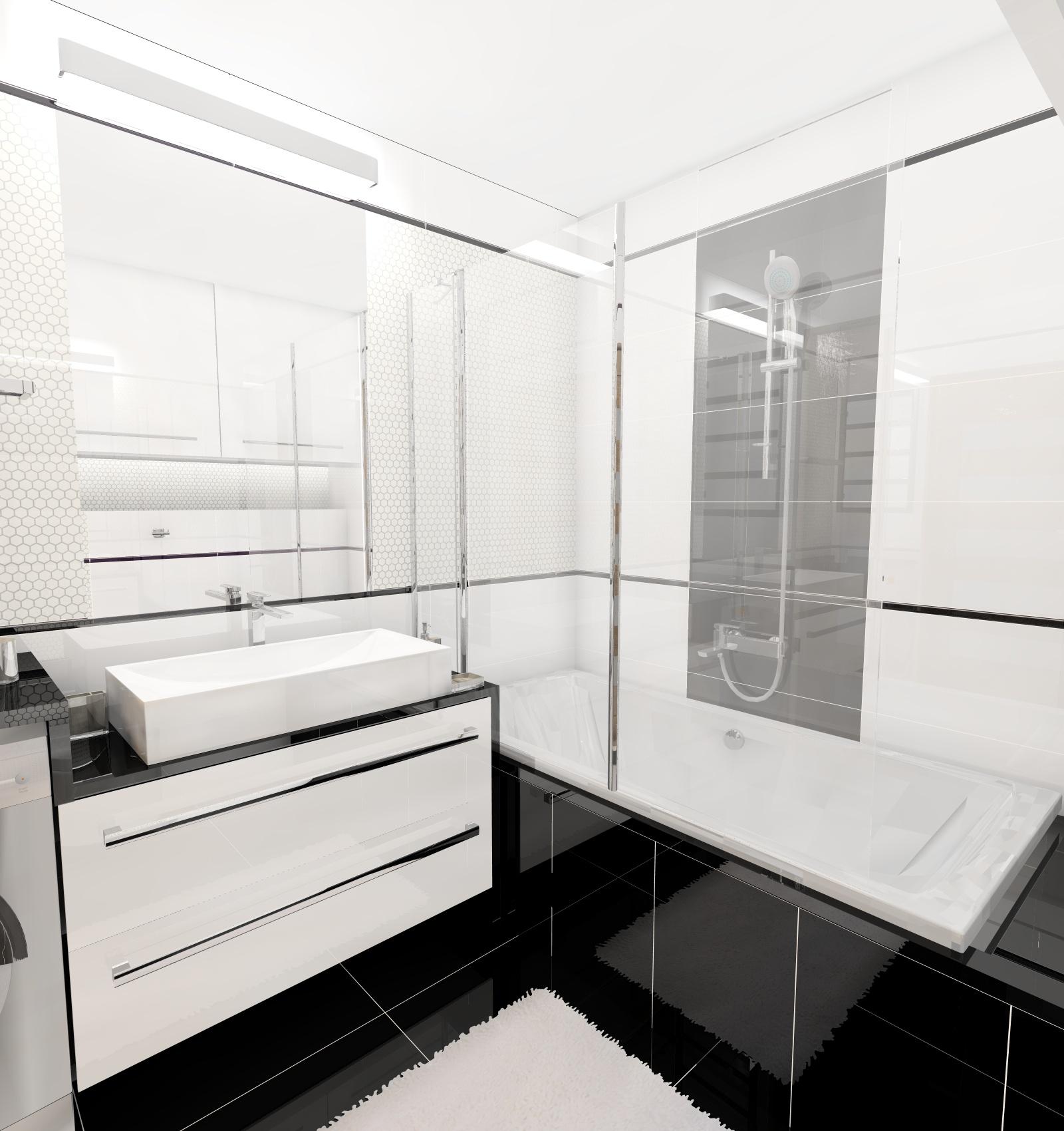 Black Amp White 60x30 Inspiracje Kaflando