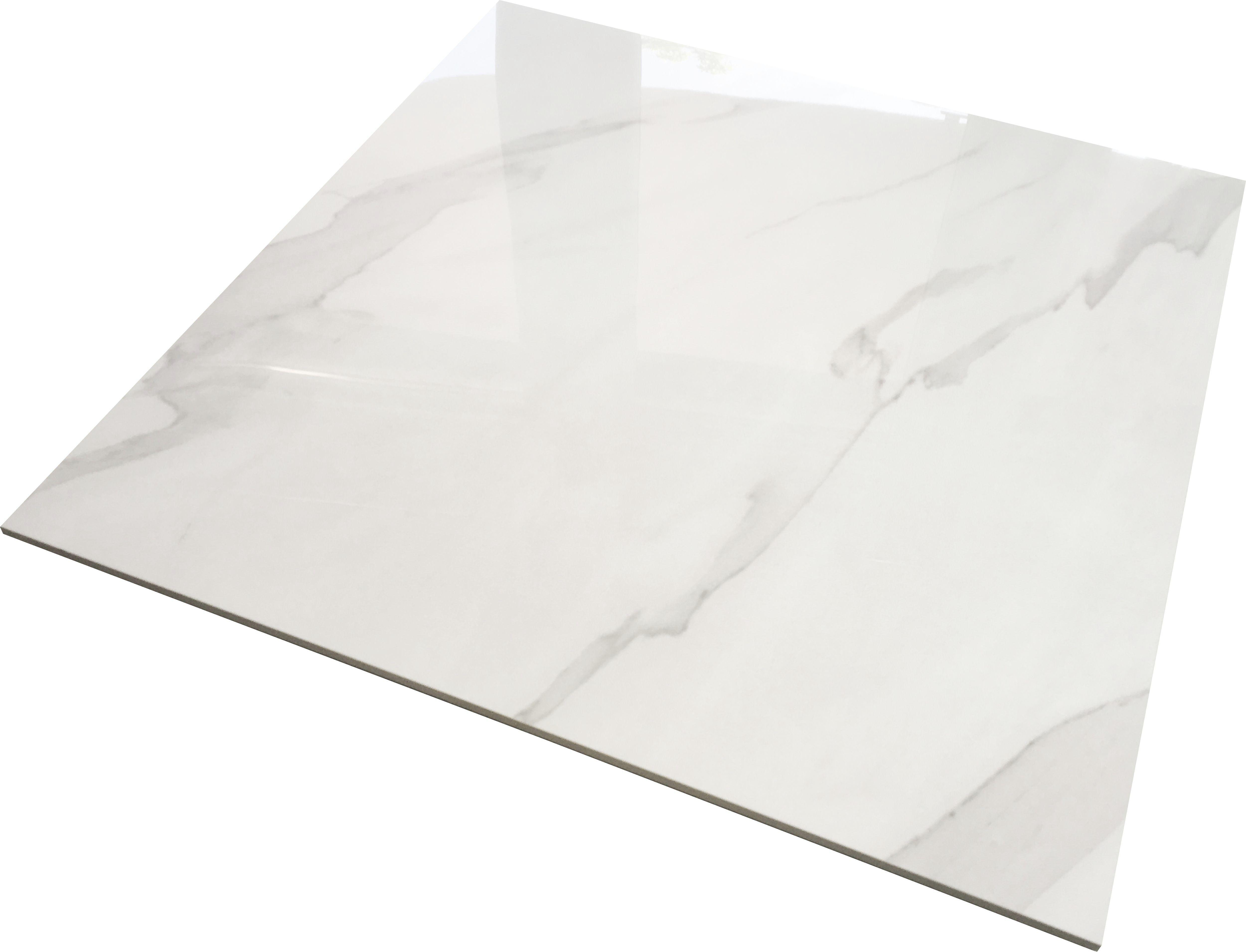 Gres Carrara 60x60 Polerowany 8900m2 Imitujący Biały Marmur