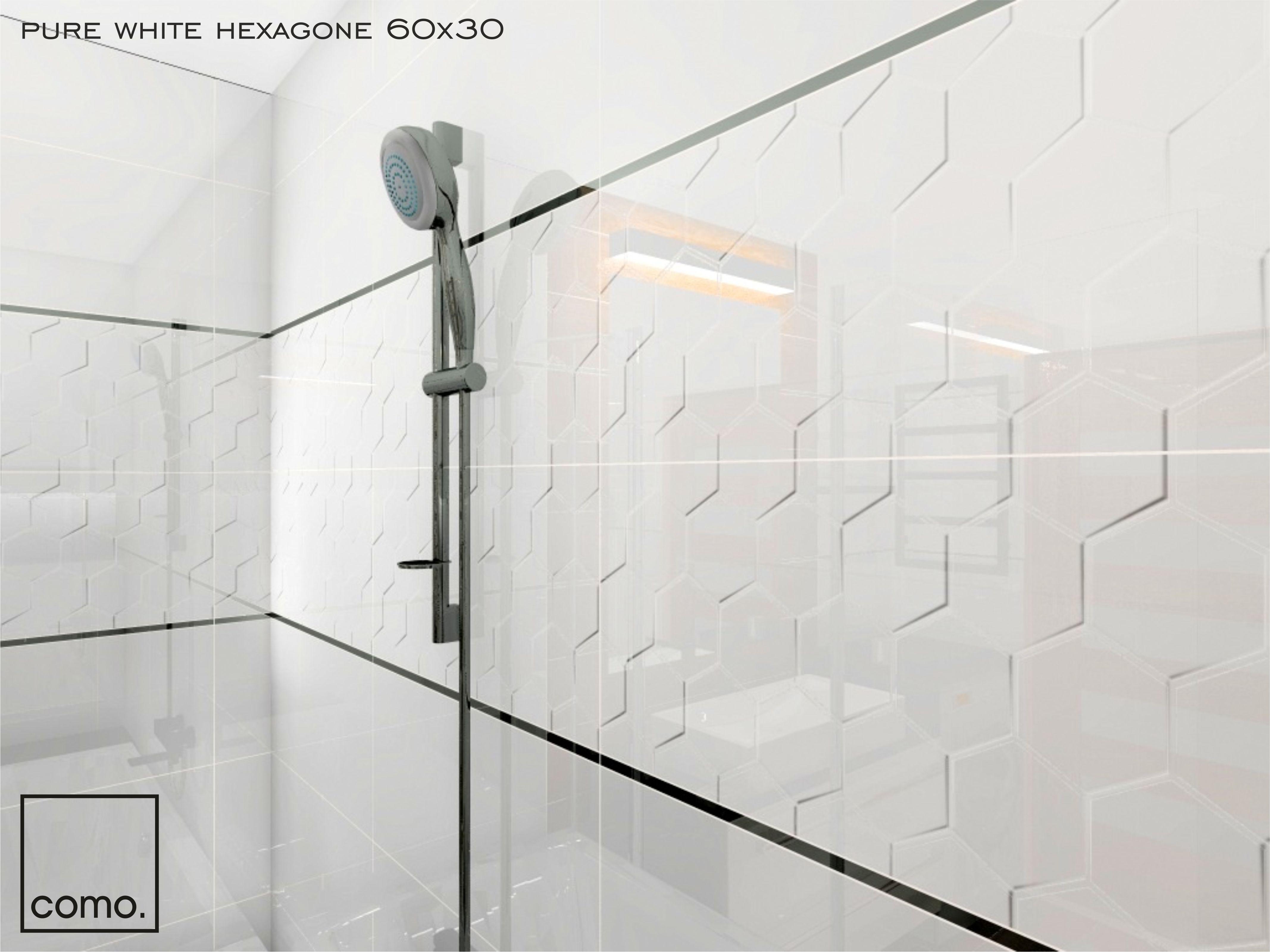 Płytki 3d Glazura Biała Pure White Hexagone 60x30cm Gat I Płytki Ceramiczne 3d Kaflando