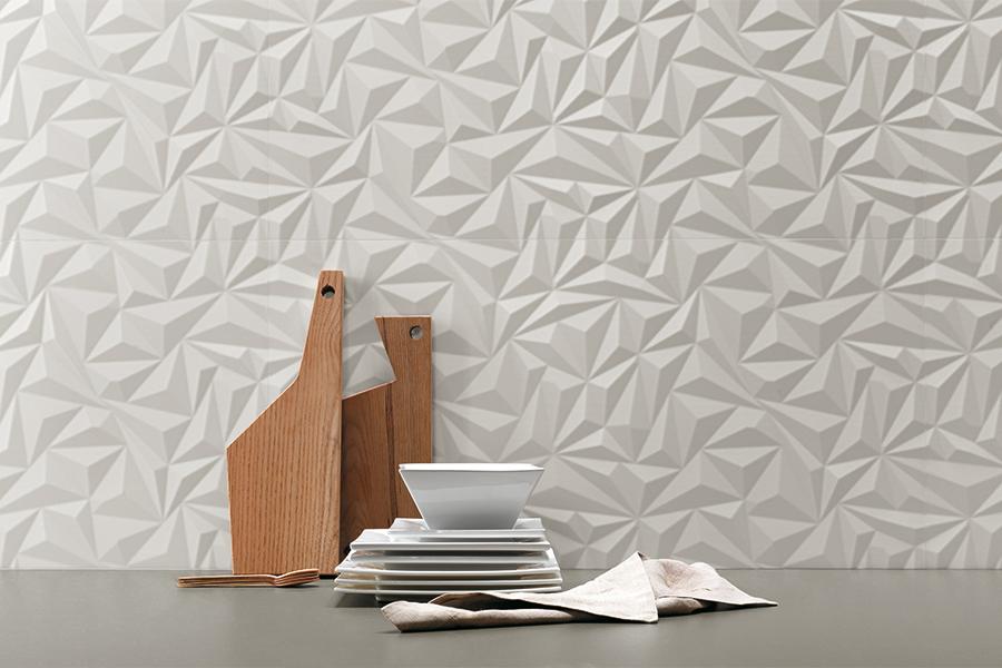 Płytki 3d Białe 90x30 Glazura Biała Blanco 3d Future Mat 30x90