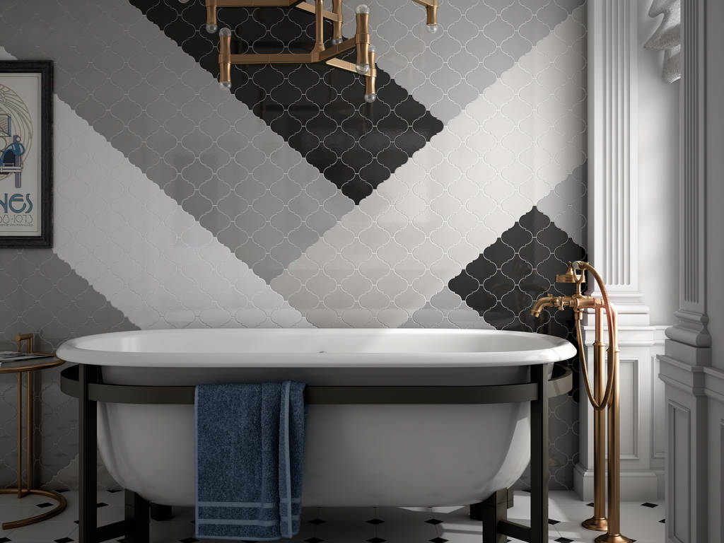 Płytki Arabeska Biała Mozaika 10x10 Połysk