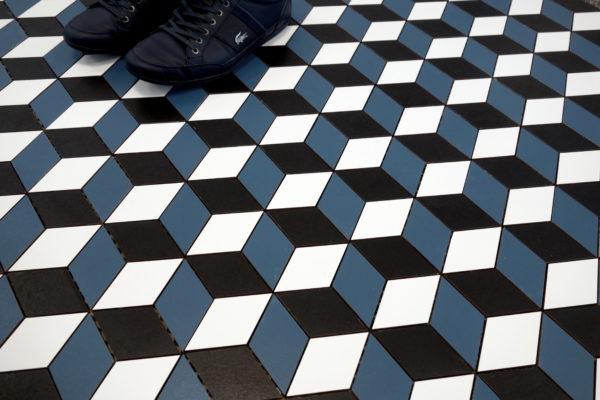 mozaika ROMBUS CUBIC kobalt UNIWERSALNA buty