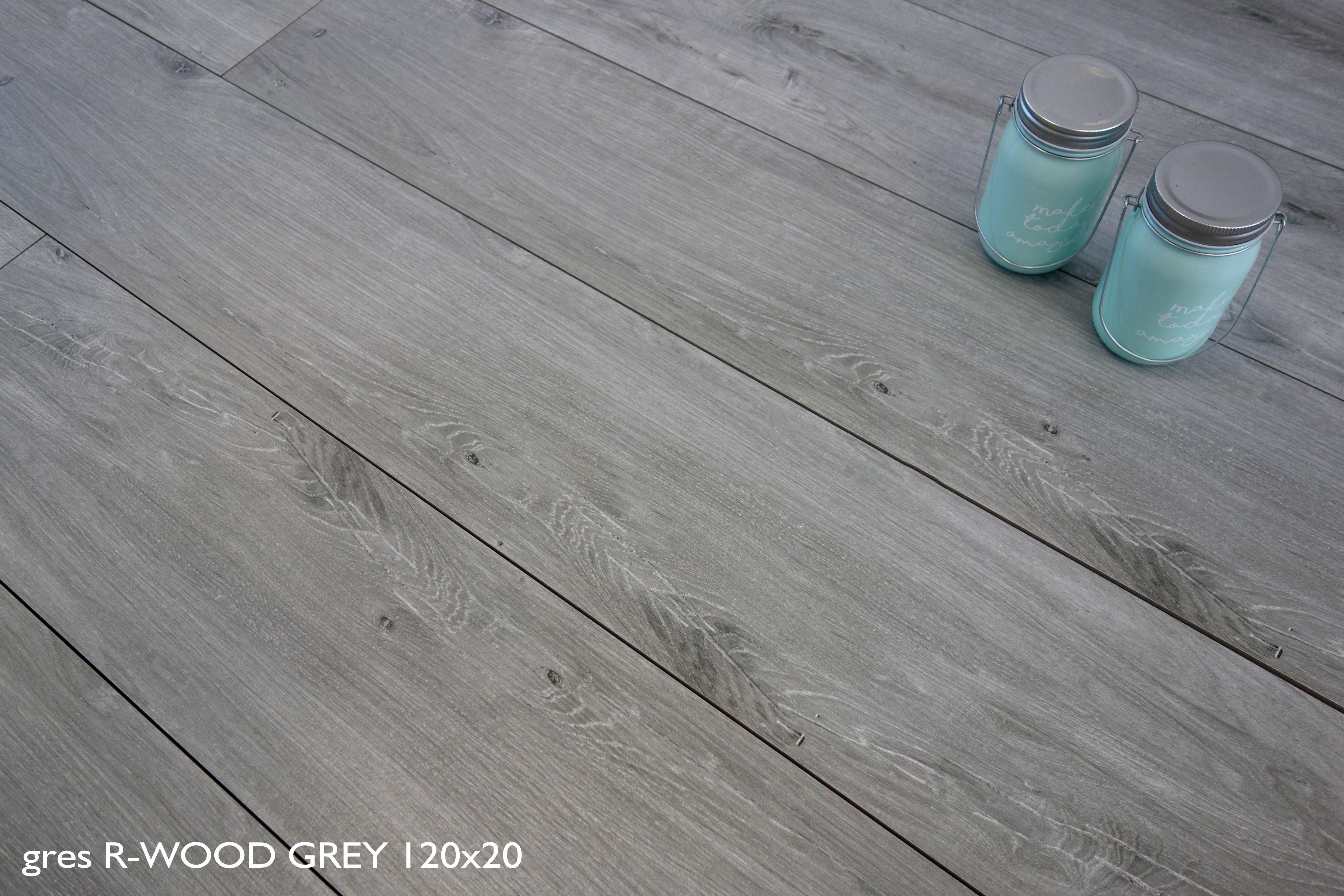 Płytki Drewnopodobne Szare 120x20 Rusticwood Grey Rektyfik