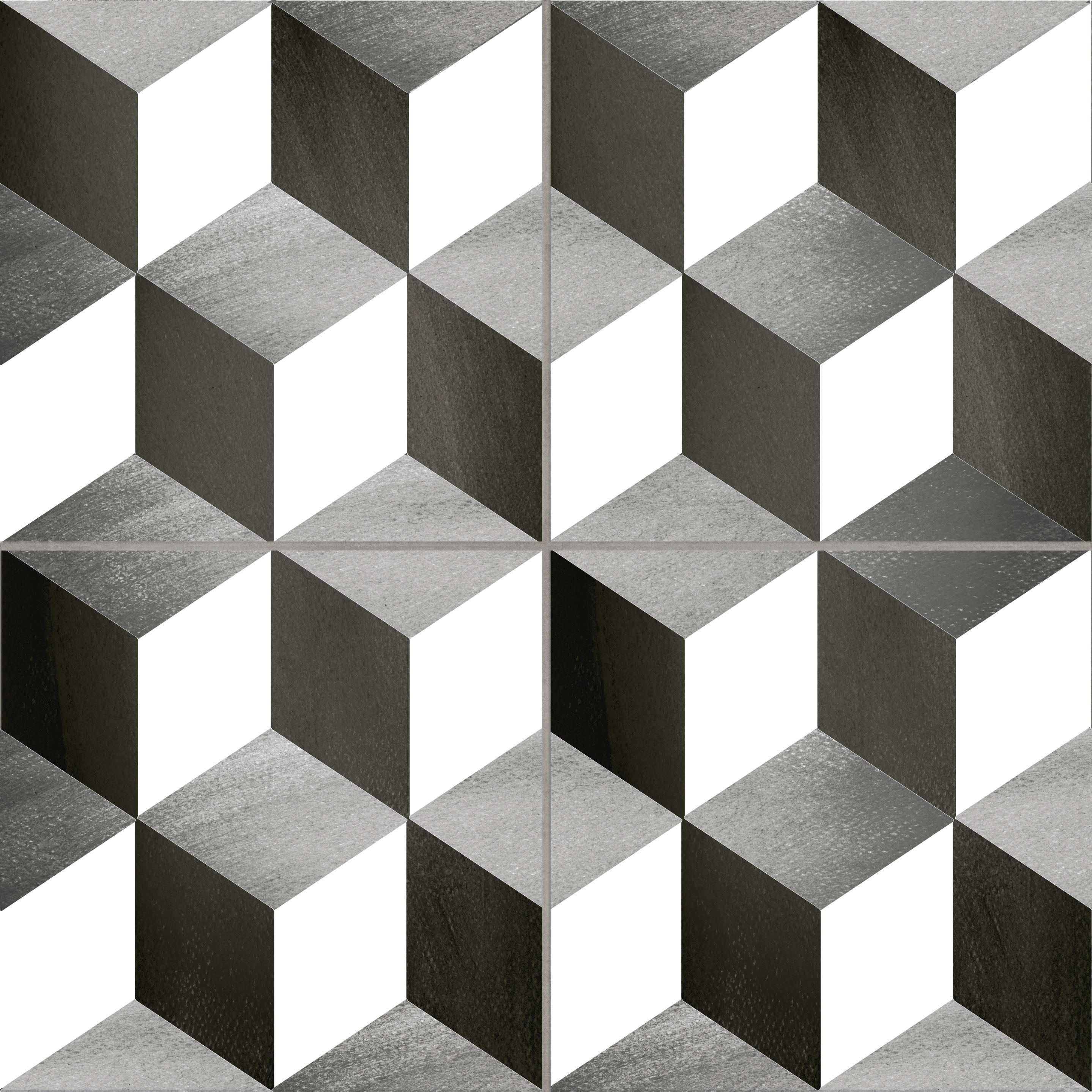 Płytki Patchwork Geometryczny Cubic 3d 45x45 225x225