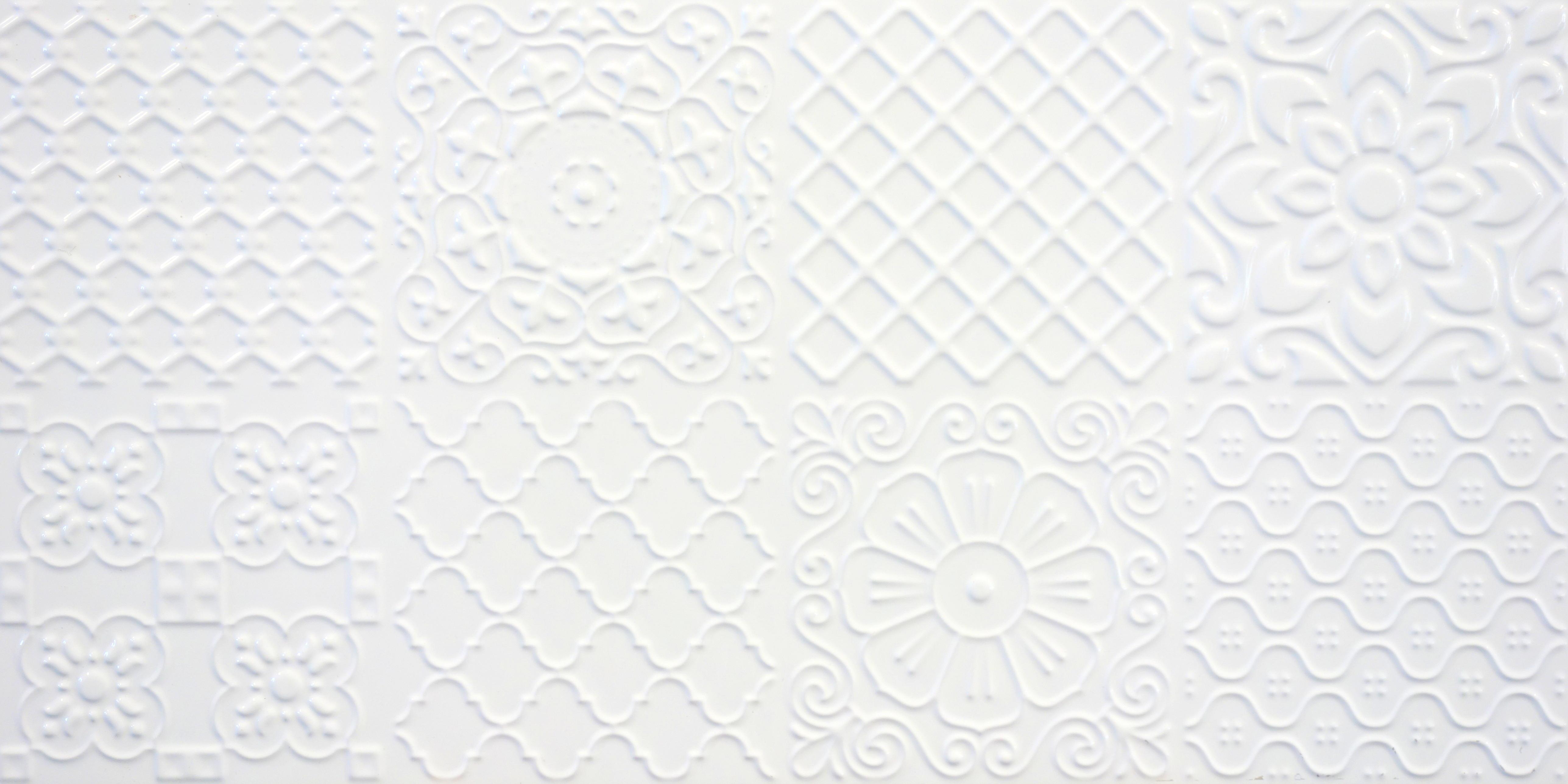 Płytki 3d Patchwork Carpet 60x30cm Biały Płytki Ceramiczne 3d Kaflando