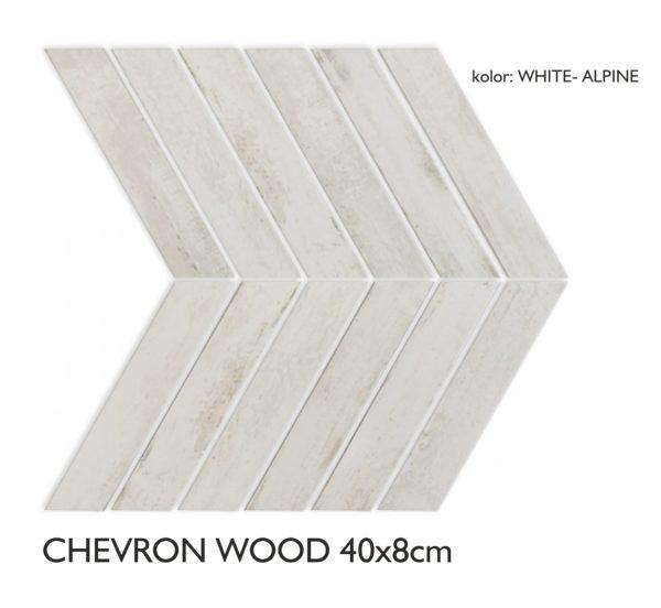 grafika CHEVRON ALPINE WHITE