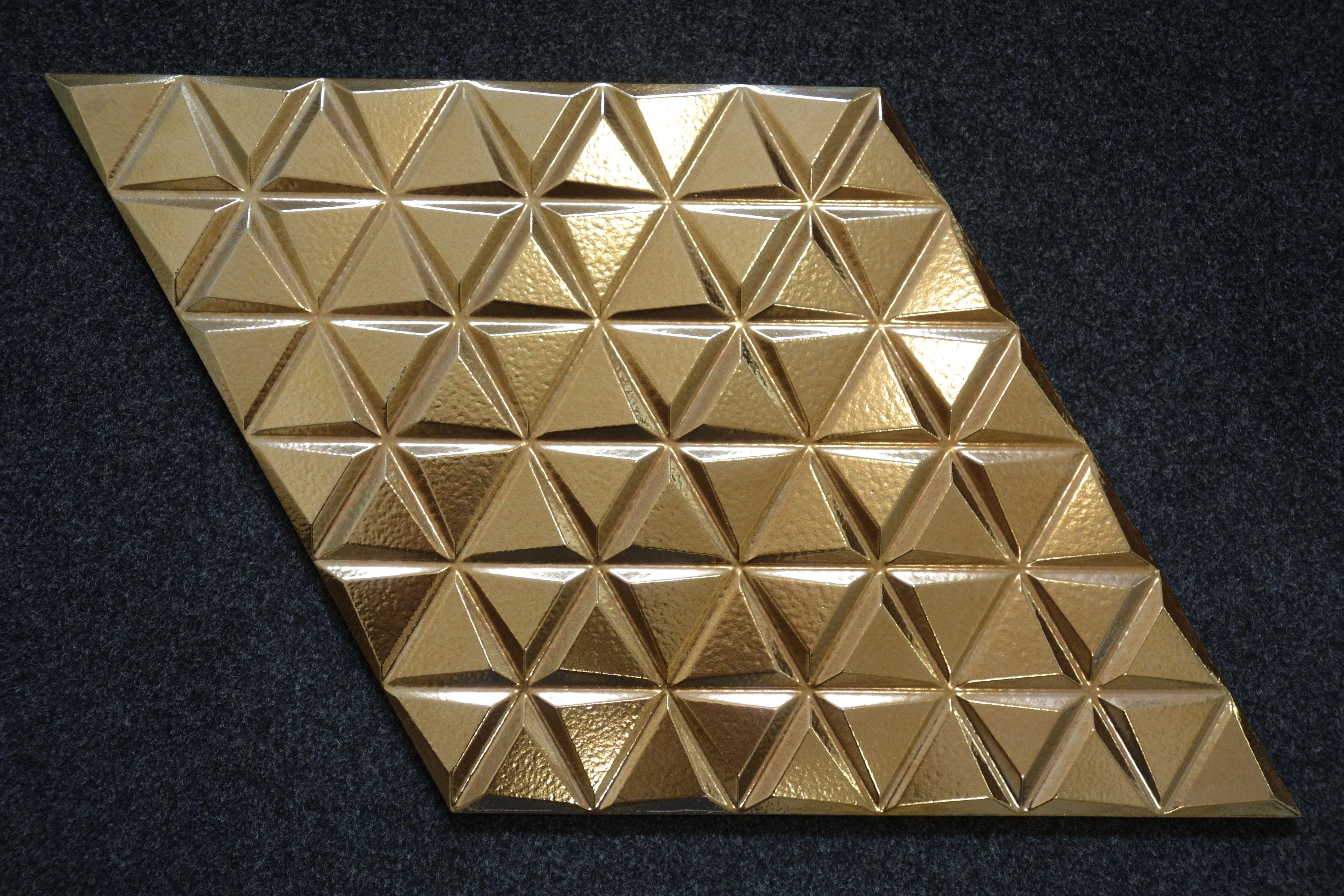 Płytki Złote Diamond Wave Gold