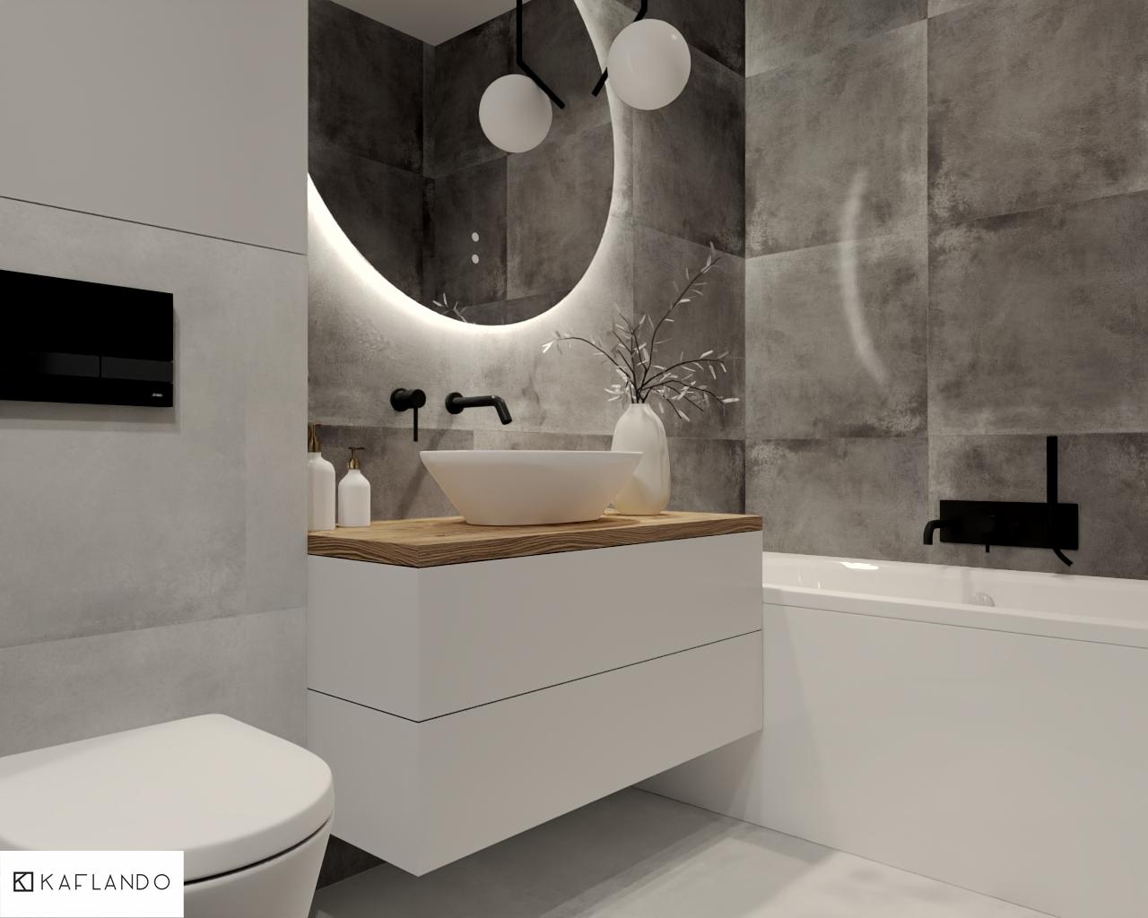 płytki łazienkowe szare