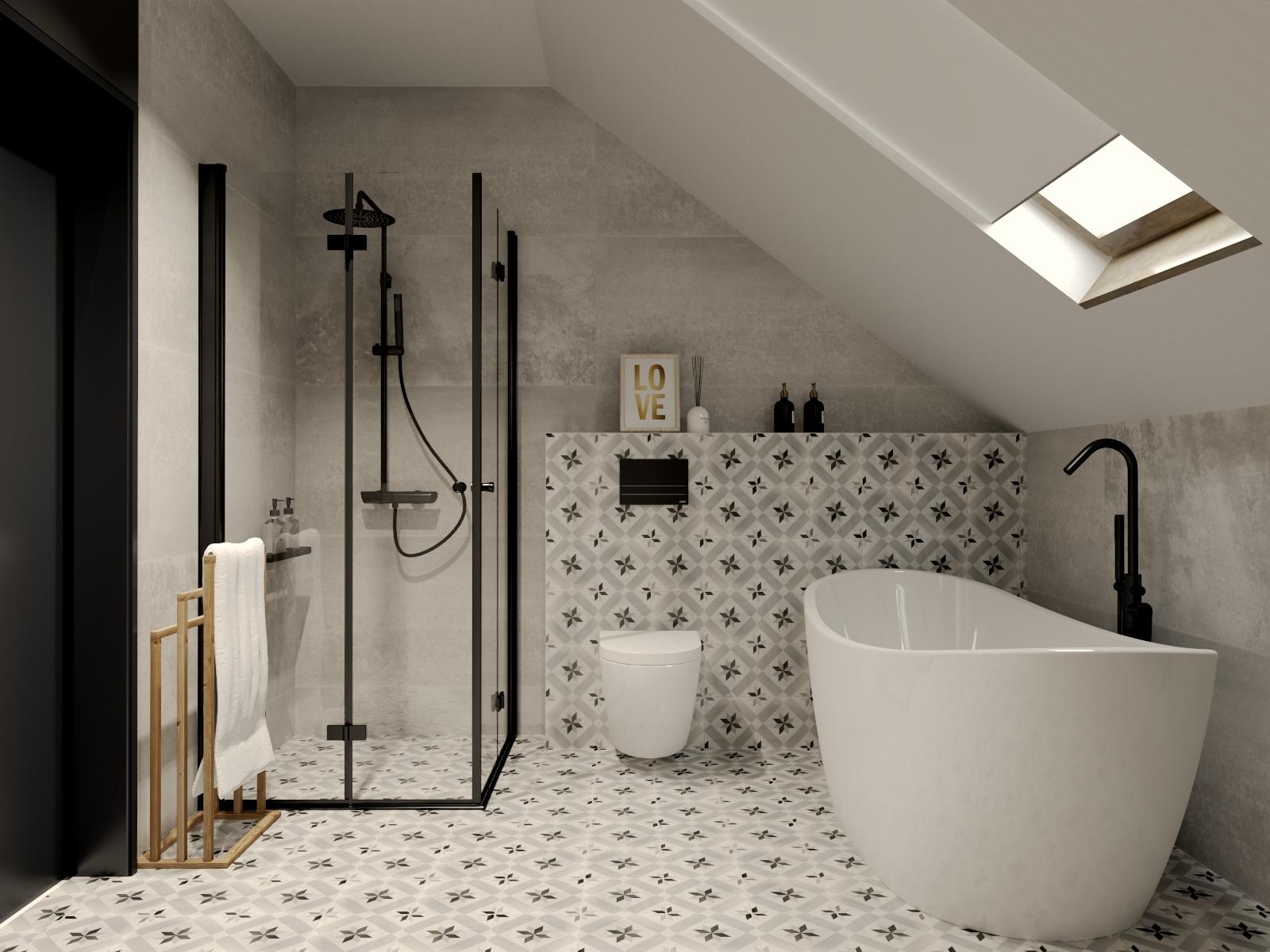 Płytki patchwork łazienka