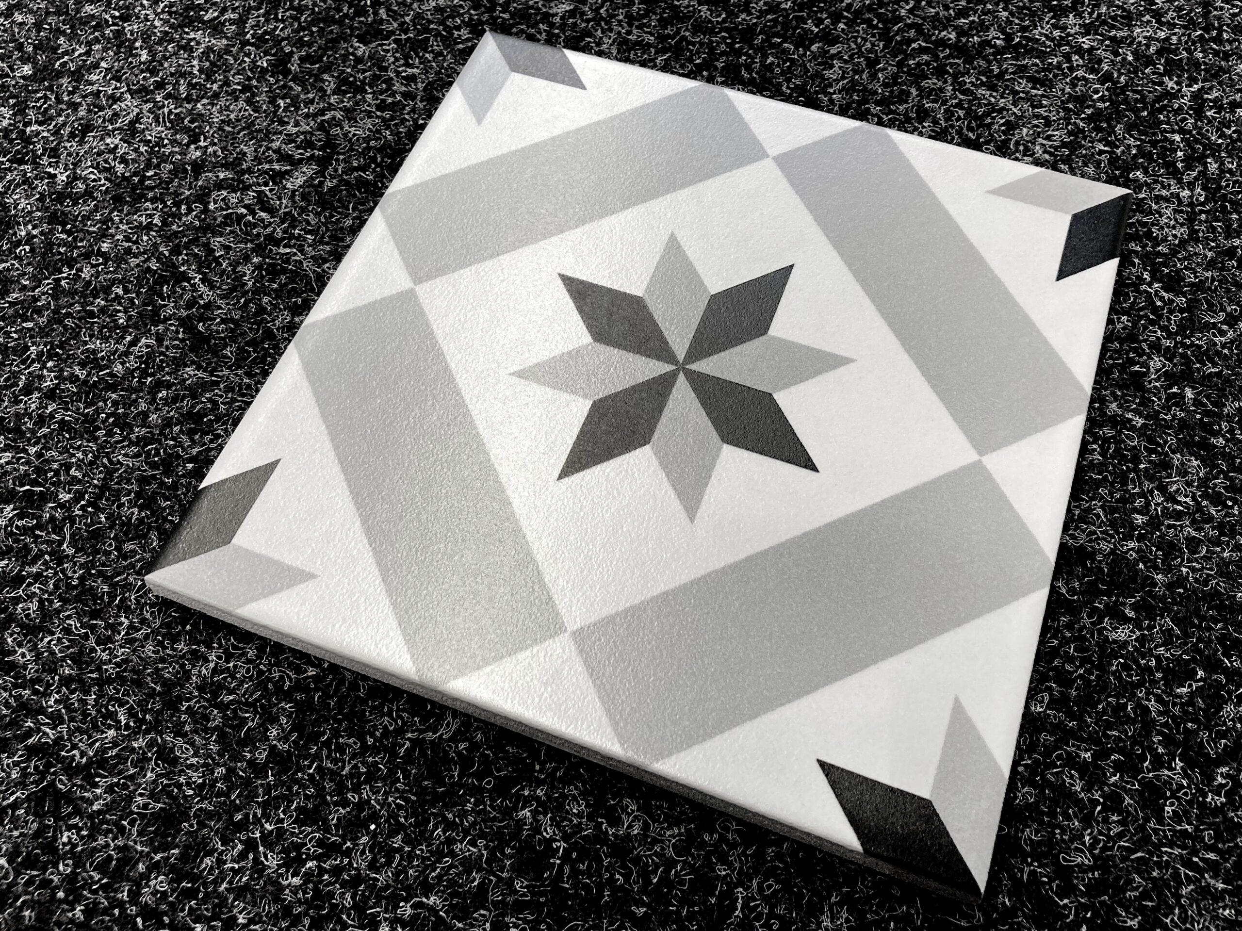 płytki patchwork gwiazda